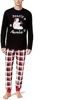 Men's Buffalo Plaid Bearly Awake Pajama Set