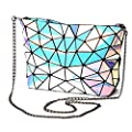 Obvie Geometric purse PU leather chain crossbody purse clutch purses for women