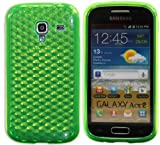 Luxburg® Diamond Design custodia Cover per Samsung Galaxy Ace 2 GT-I8160 colore verde smeraldo, custodia in silicone TPU