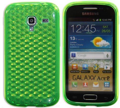 Luxburg® Diamond Design custodia Cover per Samsung Galaxy Ace 2 GT-I8160 colore verde smeraldo, custodia in silicone TPU