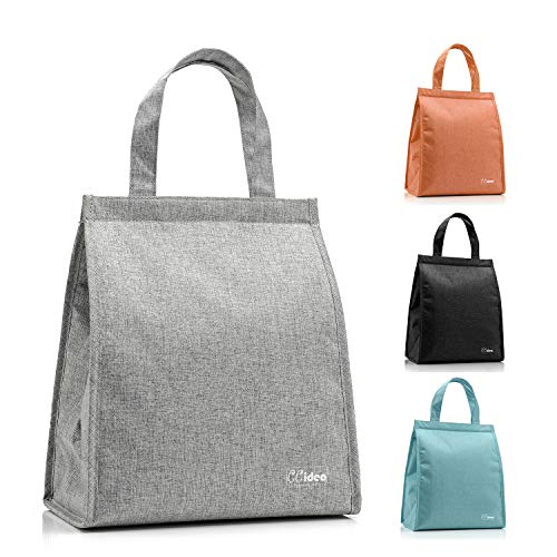 Lunch Bag For Men & Women, CCidea Simple Waterproof Insulated Large Adult Lunch Tote Bag (Grey)