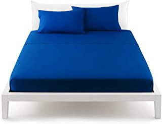 BASSETTI Ligne Pop Color Drap-housse pour drap-housse 100 % coton avec coins élastiques cousus pour lit double 1 place