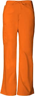 Everyday Scrubs Signature by Dickies Women's Mid Rise Drawstring Cargo Pant XX-Large Tall Pumpkin