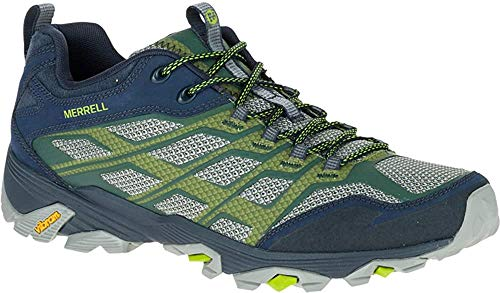 Merrell Men's Moab FST Hiking Shoe, Navy/Green, 9.5 M US
