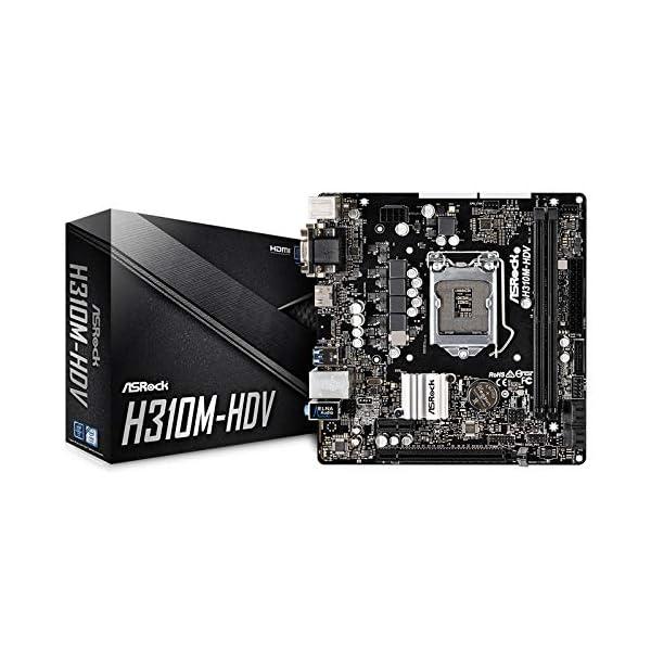 ASRock H310M-HDV LGA1151/Intel H310/DDR4/SATA3&USB3.1/GbE/MicroATX Motherboard