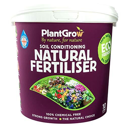 Fertilizante Natural orgánico PlantGrow, fácil de Usar, sin químicos, Apto para jardín, 1 Fertilizante Natural acondicionador de Suelo de 10 l de Thompson y Morgan