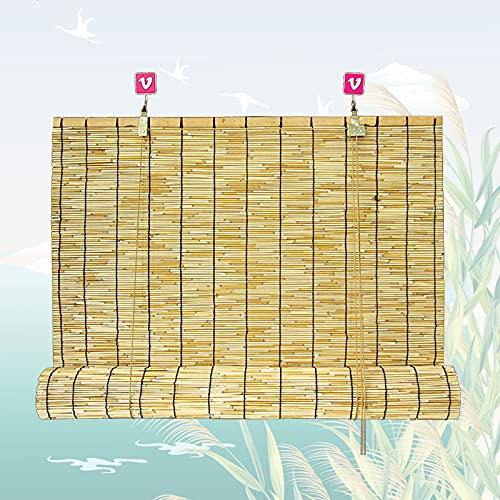 SAMUR Estores de Bambú para Exteriores, Cortinas de Caña Natural, Cortina Puerta Exterior Madera, para La Decoración de Particiones Domésticas, Personalizable