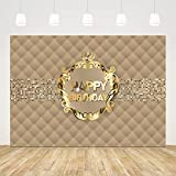 Ticuenicoa 7x5ft VIP Themed Birthday Party Backdrop for Photography Royal Crown Gold Hollywood Striped Background Step and Repeat Background Birthday Party Decorations Celebrity Photo Booth Props
