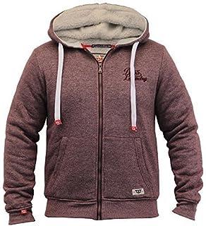 D555 Mens Jacket Duke Sweat Coat Hooded Big King Size Sherpa Fleece Lined Winter