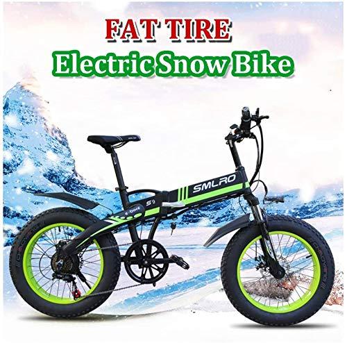 RDJM Bici electrica, Montaña Bicicleta eléctrica for Las Mujeres Hombre 350W de 7 velocidades City Adulto conmutan Bicicletas eléctricas 36V 10Ah extraíble Batttery 26 4.0 Fat Tire con Pantalla LCD