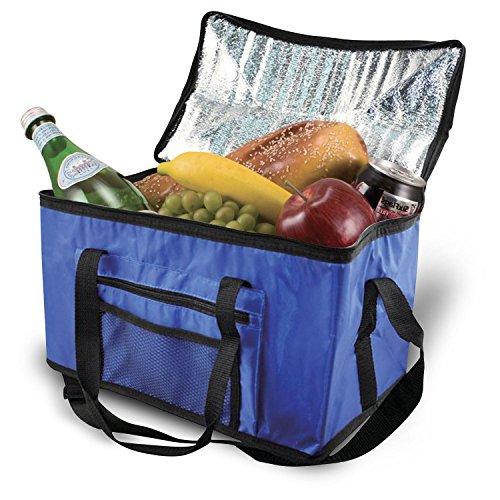 Parkland Extra grote 26L koeltas koelbox picknick camping eten drinken lunch festival ijs, stof, blauw, 26 liter