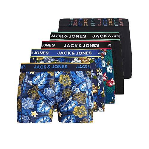 JACK & JONES Herren 5er Pack Boxershorts Unterwäsche, Größe:L, Farbe:5er Pack #MIX5