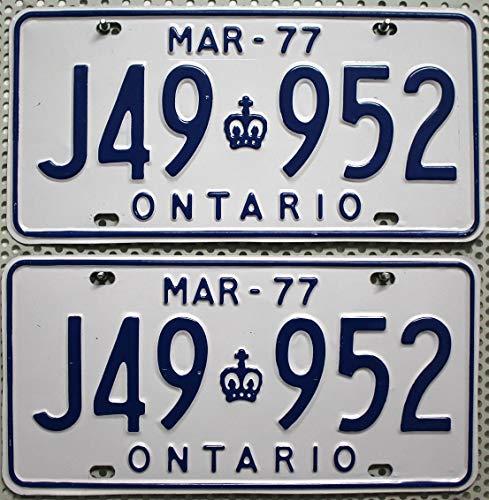 ONTARIO Nummernschilder PAAR ~ Kennzeichen Canada License Plates PAIR # Autoschilder aus KANADA