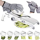 MILcea Mandoline Slicer, Stainless Steel Mandoline Slicer Adjustable Kitchen Food Julienne Slicer for Fruits and Vegetables