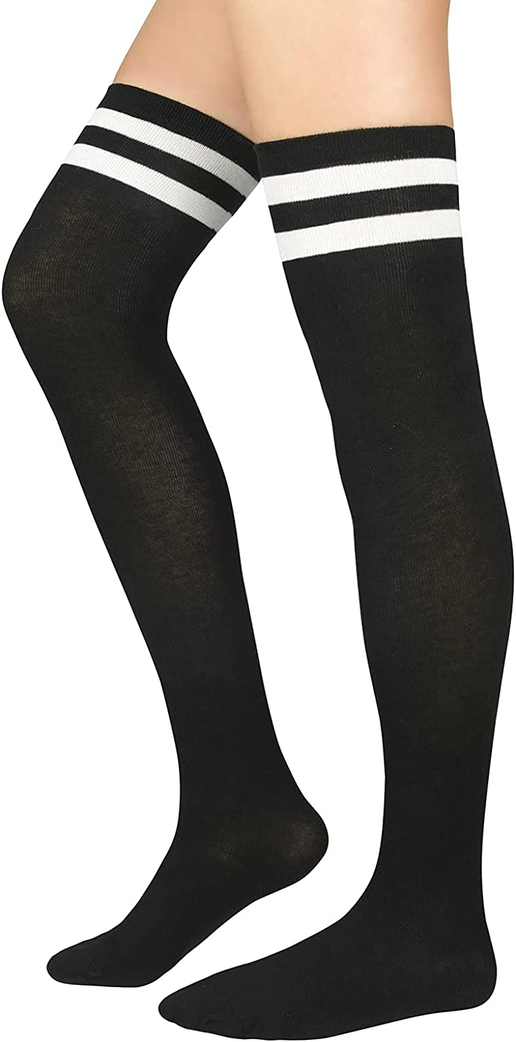 Thigh High Socks 70% OFF Outlet for Women Atlanta Mall Rain Knee Athletic Striped