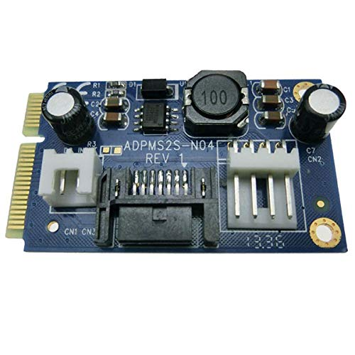 Mini SATA to 7pin SATA Adapter MSATA to SATA Supply 5V/12V