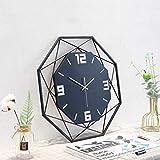 JZDHAOANHE Reloj Mudo Moderno, Fácil de Montar,Diseño Moderno Apto para Decorar Hogar Oficina Cocina Escuela Oficina Sala,Negro
