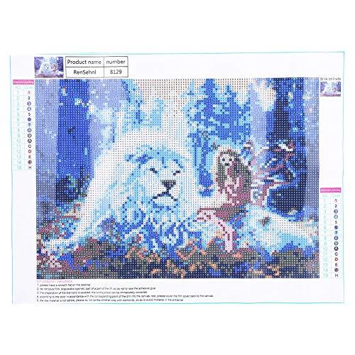 40x30cm Strassmalzeug Erwachsene DIY Diamond Embroidery Painting Anzahl Strassbilder Basteln für Wohnzimmerwanddekoration