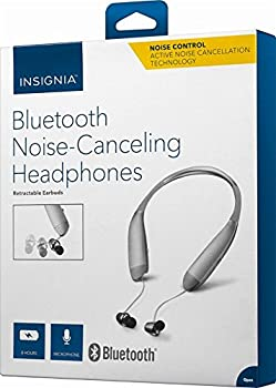 Insignia Wireless In-Ear Behind-the-Neck Noise Canceling Headphones  NS-CAHBTEBNC-S  Silver