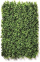 Sun Shine Artificial Small Leaves Vertical Wall Grass Tiles for Home & Balcony Decoration (60X40 cm Set of 1)
