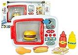 BSD Kitchen Series Microwave Oven mit Zubehör - Mikrowelle Kinderspielzeug - Mikrowelle mit Licht und Sound - Küchenspielzeug