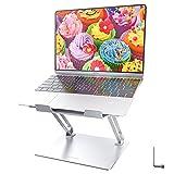"""Supporto PC Portatile, Regolabile Supporto per Notebook Alluminio Laptop Supporto per Computer compatibile con 10""""-17"""" Macbook Air/Pro, Dell, HP, Lenovo, Argento"""