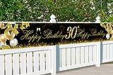 30 Globos Cumpleaños Decoracione Oro Negro, Decoración de Fiesta de 30 Cumpleaños, Photocall 30 Cumpleaños, Regalo 30 años, Pancarta de Fondo de 30 Aniversario, para Decoración de Fiesta Foto Prop