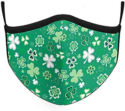 Qyeaber Face Mask Irish Style Neck Gaiter Reusable Washable Cloth Ear Loops Sun Dust Wind for product image