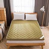 KE & LE 4 d Carbón de leña de bambú Funda de colchón, Cama Estéreo Respirable Sobrecolchón de Tatami Colchón Espuma Mat-B 120x200x6cm
