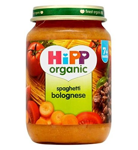 Hipp Bio Spaghetti Bolognese 7+ Monate 190G - Packung mit 2
