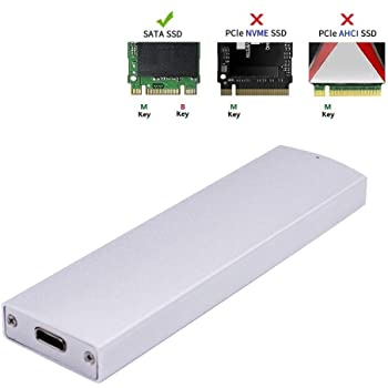 EZDIY-FAB M.2 Estuche USB 3.1 Gen2 para SATA M.2 SSD(Key B/B+M), USB-C Gen2 M2 Estuche Externo SSD con Tipo C + Cable Tipo A: Amazon.es: Electrónica