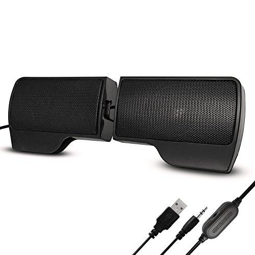 Ordinateur Enceintes, Mini Enceintes Haut Parleur Enceintes Portables Enceintes PC Speaker USB avec Fil Compatible Avec la Prise pour Ordinateur Asus / Acer / Samsung / Dell / Toshiba / HP / Sony, etc