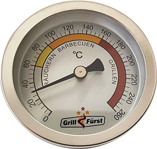 Grillfürst BBQ Deckelthermometer Therm 260 - Einbau Grillthermometer zur Garraumtemperatur Messung für alle Grills, Smoker oder Räucherofen