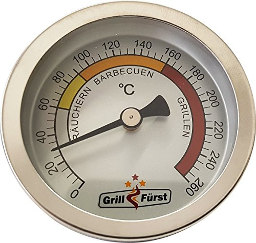 Grillfürst BBQ Deckelthermometer Therm...