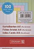 Baier & Schneider - Tarjetas de cartulina (180 g/m², tamaño A8 horizontal, con rayas, surtidas)