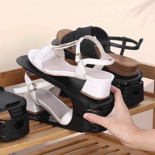 amzdeal Regolabile Scarpiera Salvaspazio 30 Pezzi, Portascarpe Salvaspazio Plastica Organizer Scarpe Altezza a 3 Livelli Creativo Durevole Scarpiera Shoe Organizer Holder Rack