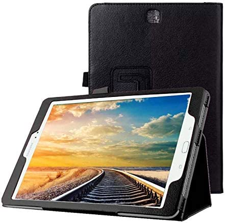 Lobwerk hoes voor Samsung Galaxy Tab A SMT550 T551 T555 97 inch beschermhoes flip tablet cover case zwart
