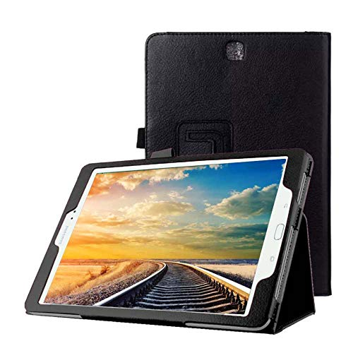 Schutzhülle für Samsung Galaxy Tab A SM-T550 T551 T555 9.7 Zoll Smart Slim Hülle Book Cover Stand Flip (Schwarz) NEU