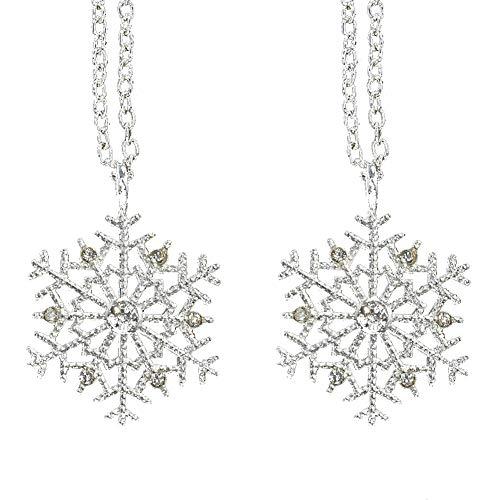 ADDFOO Moda Copo de Nieve Colgante Collar Gargantilla Mujeres Navidad JoyeríA Navidad