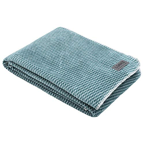 LOOKS by Wolfgang Joop Kuscheldecke 150x200 cm, Decke türkis, hochwertige und kuschelweiche Baumwollmischung