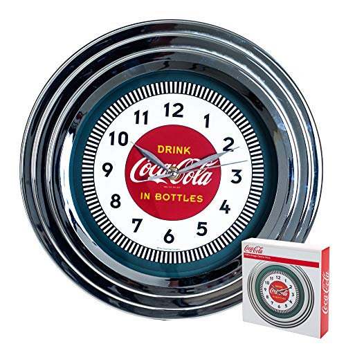 Coca-Cola Uhr w/Chrome Finish – 1930er Stil – 29,8 cm