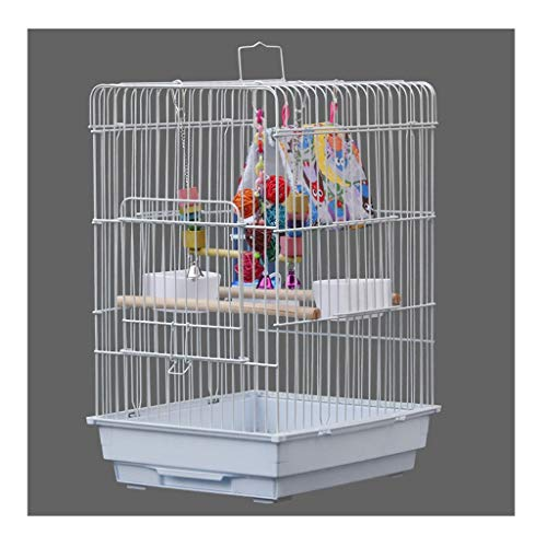 Gabbia per Uccelli Grande Gabbia per Uccelli per Pappagalli Parrocchieri Cockatiels In Ferro Battuto Grande Gabbia di Uccelli di Volo con Gabbia per L'allevamento di Stand Gabbie Per Uccelli leggero t