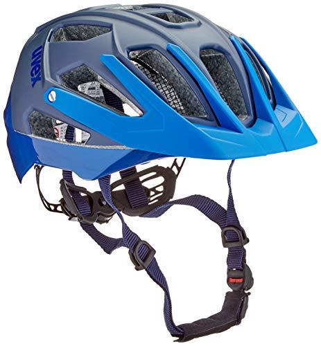 Uvex Unisex– Erwachsene, quatro Fahrradhelm, blue mat, 52-57 cm