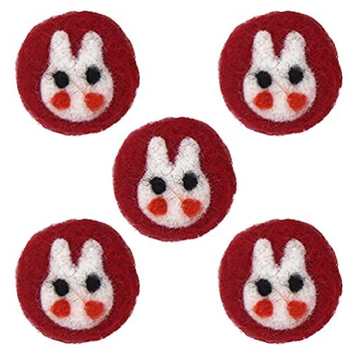 PartyKindom 5 piezas de accesorios para el pelo de conejo, alfileres de solapa para niñas, decoración de dibujos animados de conejo de Pascua Horquillas para niños pequeños, adolescentes (rojo)