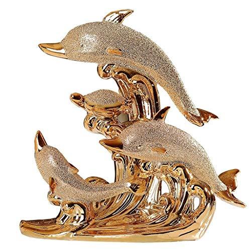 ZLBYB Escultura Creativa Adornos de cerámica Decoraciones for el hogar Sala Mesa de Comedor Armario de TV Armario de Vino Entrada Sala de Estar Decoración Artesanías Adornos
