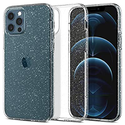 Spigen Liquid Crystal Glitter Designed for iPhone 12 Case (2020) / Designed for iPhone 12 Pro Case (2020) - Crystal Quartz