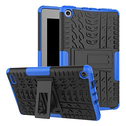MAOMI for Amazon Kindle Fire 7 Case 7th Generation 2017 Release,Kickstand Heavy Duty Armor Defender Cover (Blue)