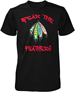 Best blackhawks feather shirt Reviews