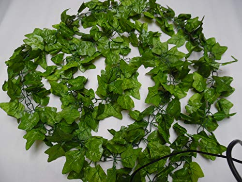 HUGE 11ft TOP QUALITY SOFT 2TONE GREEN IVY LEAF SILK ARTIFICIAL CHAIN LINK GARLAND /FOLIAGE/CHRISTMAS GARLAND