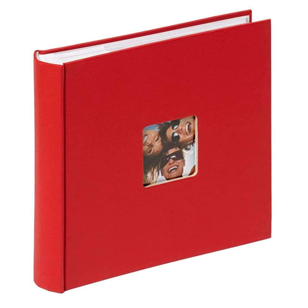 Walther Design ME-110-R Fun Standart memo Slip-in Album die Cut Your Personal Picture 200 Photos, 4 x 6 inch (10 x 15 cm), red